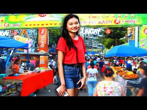 The Lighting Festival in Yangon
