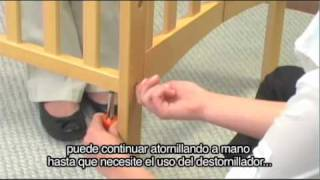 (spanish) Delta Portable Crib Assembly Instructions