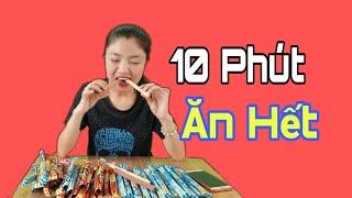 Thử Thách 10 Phút Ăn Hết 40 Que Bánh | Như Quỳnh Kids