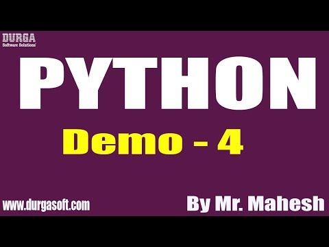 PYTHON tutorial || Demo - 4 || by Mr. Mahesh on 10-12-2019 thumbnail
