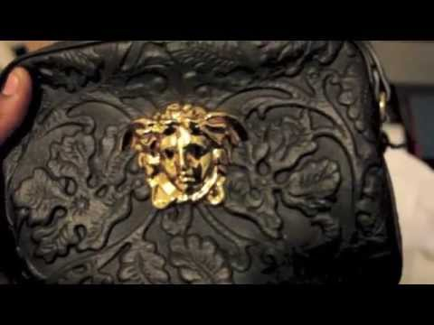 ... cheap for discount fa650 66cd1 Unboxing Versace Embossed Leather Bag -  YouTube ... 561744536526b