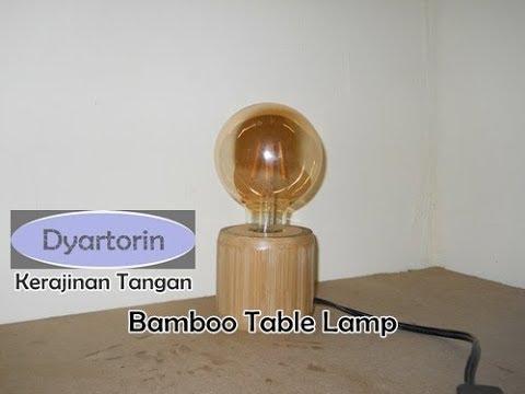 Kreasi unik kerajinan tangan lampu hias minimalis dari kayu bambu bekas