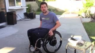 C-5/C-6 Quadriplegic - Alber Twion Power Assist Wheel Demo
