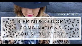 3 Print & Color Combinations You should Try Thumbnail