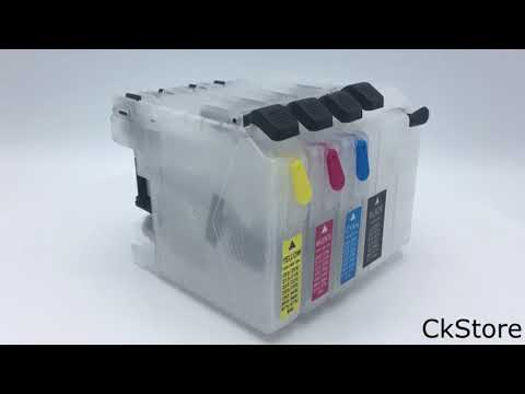 Refillable ink cartridgefor Brother DCP-J100 DCP-J105 MFC-J200