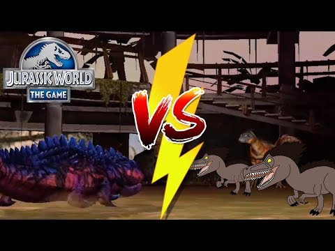 Koolasaurus vs Tanycolagreus ARMY!   Double Gold Pack!    Jurassic World - The Game