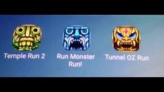 Temple Run 2 Vs Run Monster Run Vs Tunnel Oz Run screenshot 4