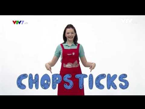 English for kids Kitchen Utensils: Spoon, Fork, Chopsticks, Bowl, Dish