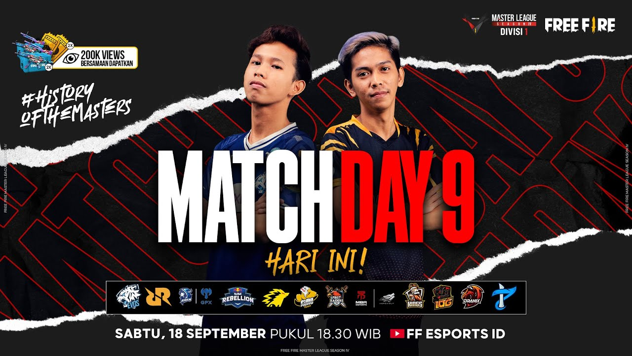 Download [2021] Free Fire Master League Season IV Divisi 1 - Match Day 9