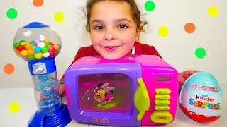 Magical Microwave SURPRISES! Toys Candy Shopkins Maxi Kinder Surprise Eggs