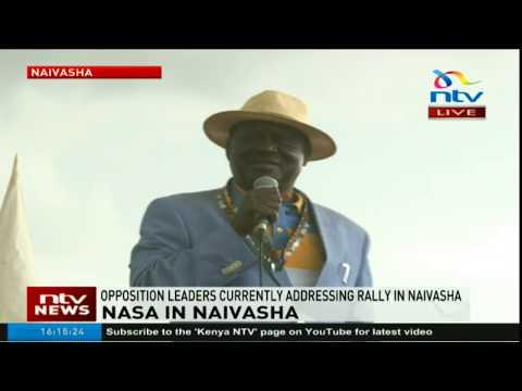 ODM Leader Raila Odinga's address in Naivasha