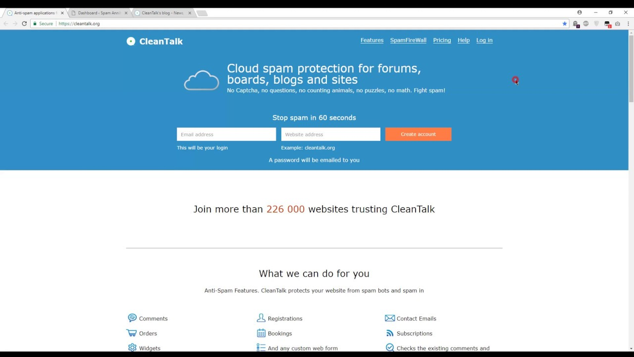 Spam protection, AntiSpam, FireWall by CleanTalk – WordPress plugin
