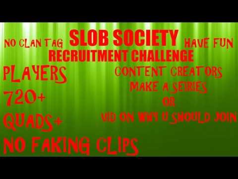 Slob Society Startup Recruitment Challenge (OPEN)
