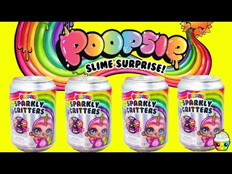 NEW Poopsie Sparkly Critters Poopsie Slime Surprise Cupcake Kids Club