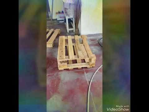 Upcycle used Pallet as TV cabinet