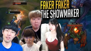 FAKER'S INSANE OUTPLAY ON SHOWMAKER - Random Stream Highlights (Translated)