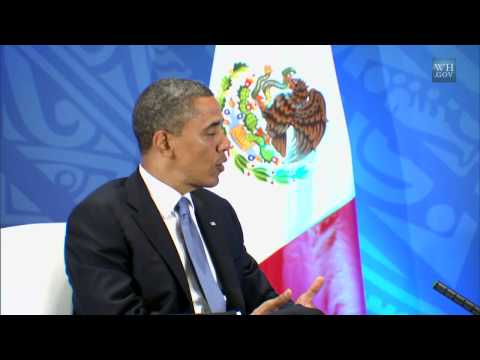 President Obama's Bilateral Meeting with President Calderón of Mexico