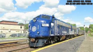 "Pan Am Railways ""PAS"" OCS w/ New Dome Car ST 102 in Shirley and Ayer, MA 8/19/16"
