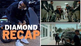 Recap: Diamond aimarisha ULINZI, sasa ana bodyguards 10 wanaovalia kama askari wa FFU!