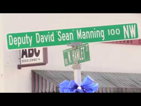 Deputy David Manning Street Named Pinetops NC