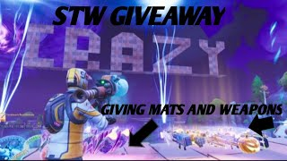FORTNITE SAVE THE WORLD GIVEAWAY LIVE