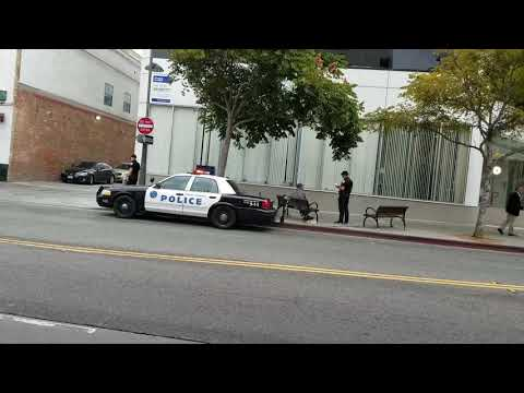 Santa Monica police department with the homeless
