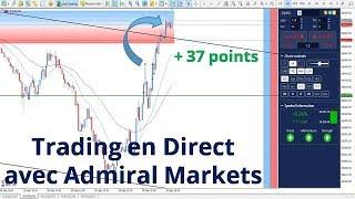 #Dow Jones CFD + 37 points - Trading en direct avec Admiral Markets le 28/09