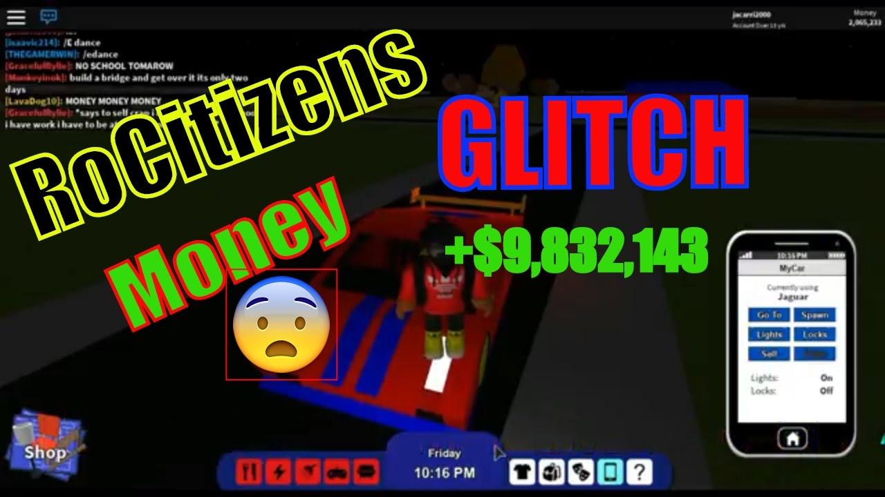 Roblox Rocitizens Crazy Money Glitch Hack March 2017 Youtube