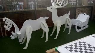 Building a reindeer and a sleigh
