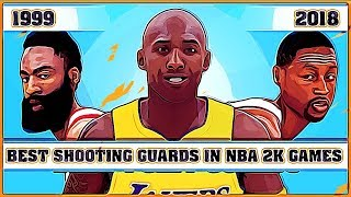 Best Shooting Guards in NBA 2K Games [NBA 2K - NBA 2K18]