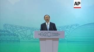 China says G20 to focus on economic issues