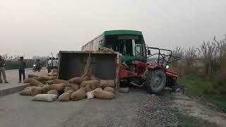 फतेहपुर:रोडवेज बस और ट्रैक्टर की भिड़ंत एक की मौत..कई घायल मलवां थाना क्षेत्र के बरौरा मोड़ की घटना