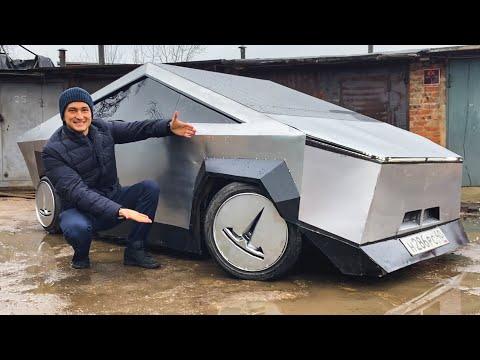 Тест ПЕРВОГО В МИРЕ TESLA CYBERTRUCK! Как смогли создать его за 80 000 рублей и 8 дней?! Test-drive.
