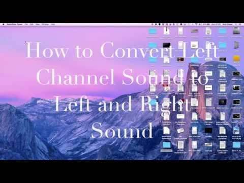 How To Convert Left Channel Stereo Sound to Dual Channel Sound on a Mac using HandBrake