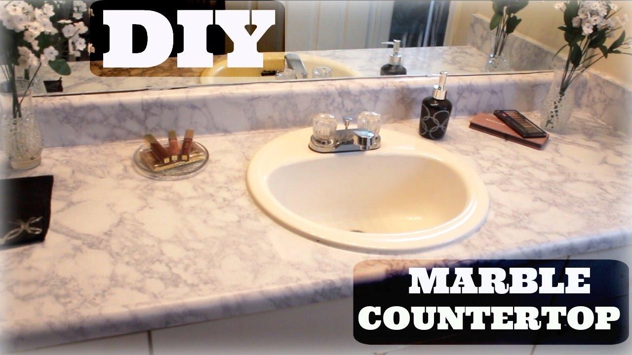 Diy Marble Countertops Very Detailed, Marble Bathroom Countertop