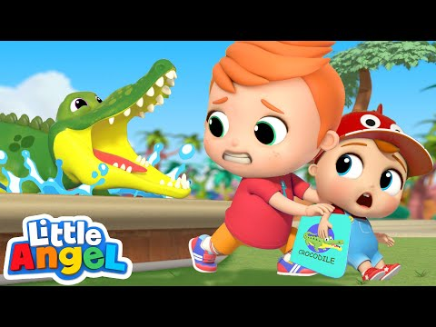 Animals At The Zoo | Learning About Zoo Animals | Little Angel Kids Songs & Nursery Rhymes