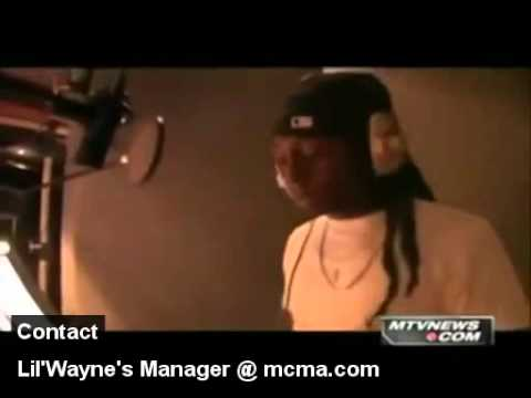 Lil' Wayne in the Studio Booth! 2011