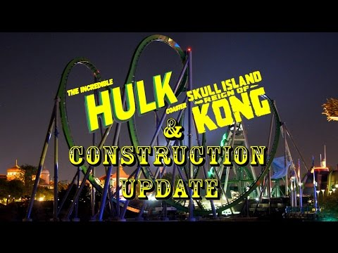 Universal Orlando Resort Construction Update 6.21.16 KONG SOFT OPEN, HULK LIGHTING TEST & MORE!