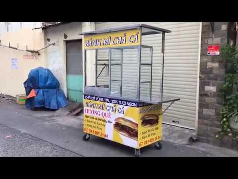 Mua xe bánh mì chả cá đẹp giá rẻ ở đâu tại TPHCM? | Inox Kim Nguyên