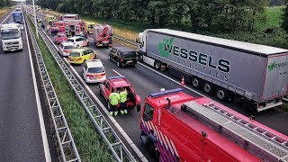 Grote inzet Brandweer, Politie en Ambulances bij zwaar ongeval op de A58 bij Oirschot - 23-06-2017