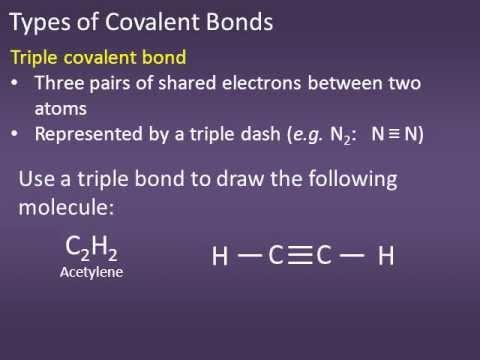 110: #7 Single Double and Triple covalent bonds.wmv