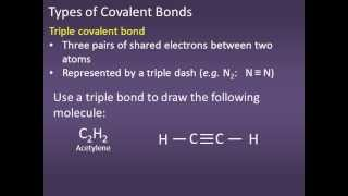 110: #7 Single Double and Triple covalent bonds.wmv