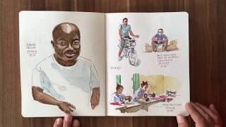Sierra Leone Roadtrip Sketchbook 1