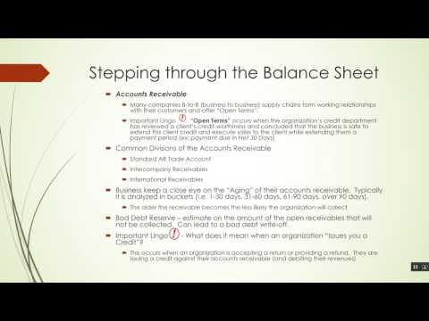 Accounting Video Series - Part III  Balance Sheet Current Assets