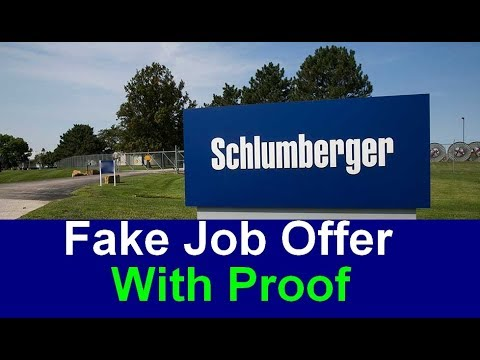 Schlumberger Interview Questions - Why Schlumberger? - Fake Job Offer -  With Proof