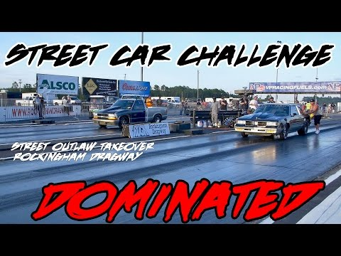 NIGHT TRAIN TURBO G BODY DOMINATION! STREET OUTLAW TAKEOVER STREET CAR CHALLENGE!!
