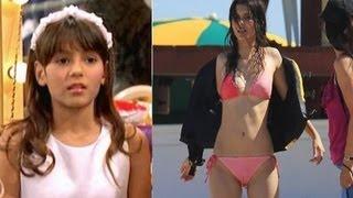 antes y despues de las famosas y sexys  actrices de nickelodeon