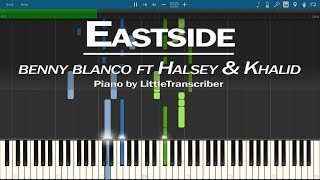 benny blanco, Halsey & Khalid - Eastside (Piano Cover) Synthesia Tutorial by LittleTranscriber