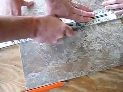 how to install congoleum duraceramic tile floor to any room YouTube