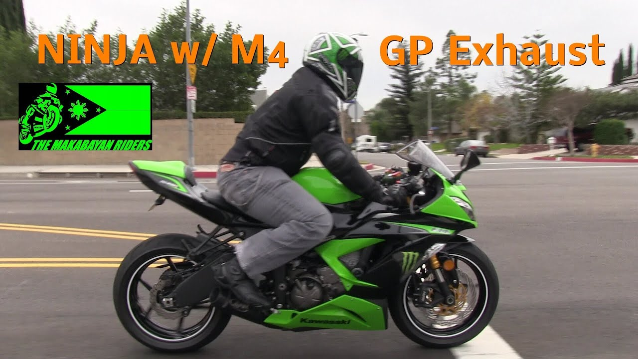 2013 kawasaki ninja 636 zx6r m4 gp style exhaust street ride by mola session 1 of 2